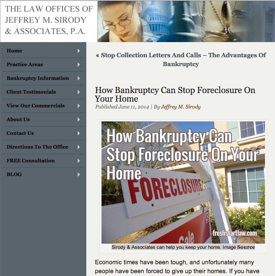 Headline and image that sells