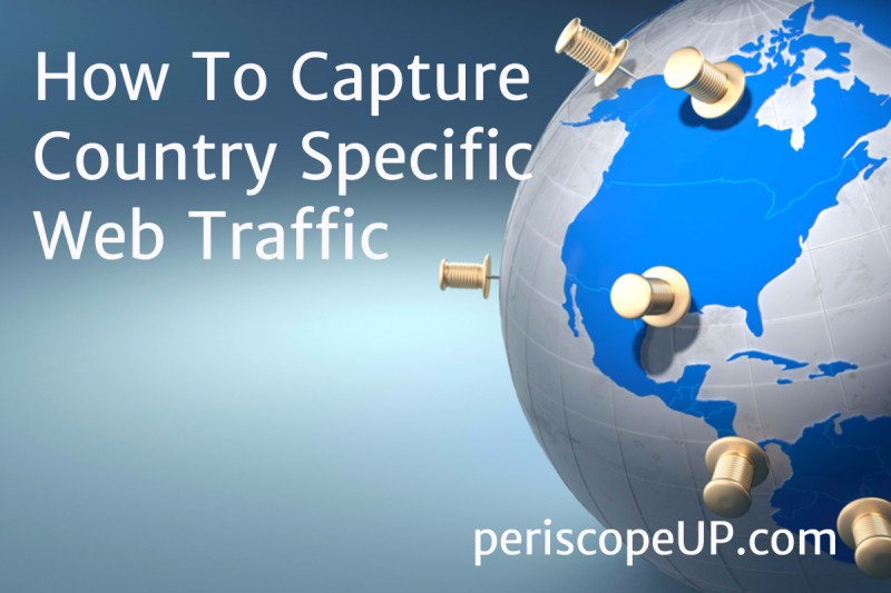 Country specific web traffic