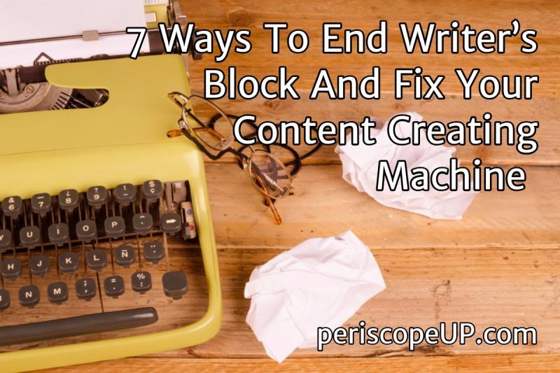End Writer's Block