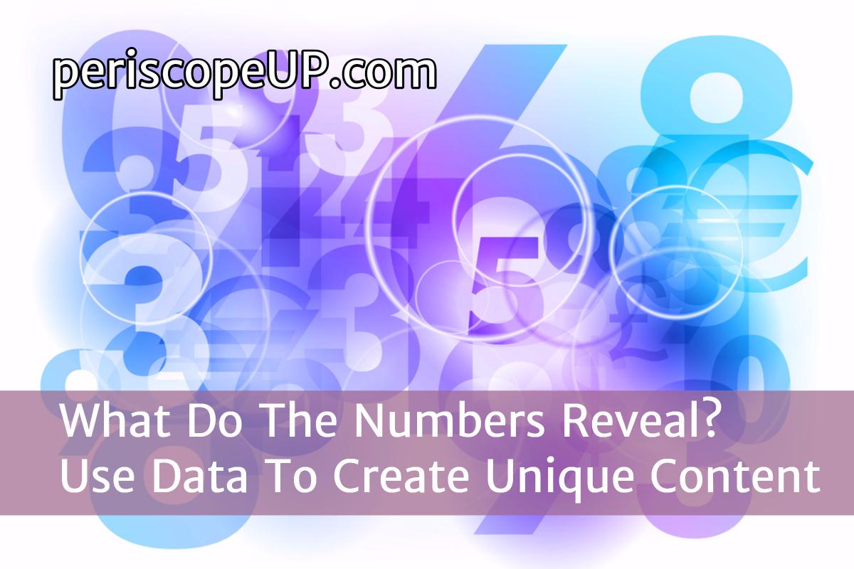 Use data to create unique content