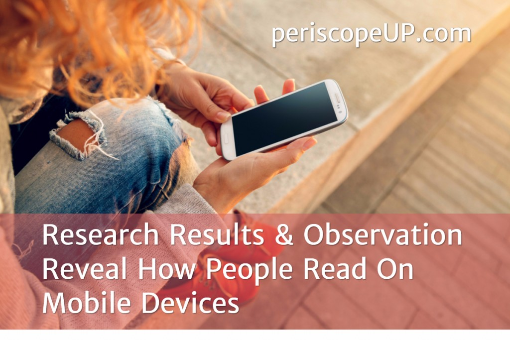 How people read on mobile devices