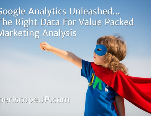 Google Analytics Unleashed… The Right Data For Value Packed Marketing Analysis