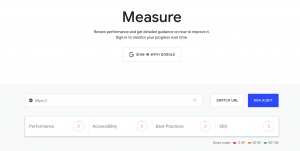 Google's Lighthouse Website Grader Tool provides insights into aspects of the site that are directly related to user experience: SEO, performance, accessibility and best practices.