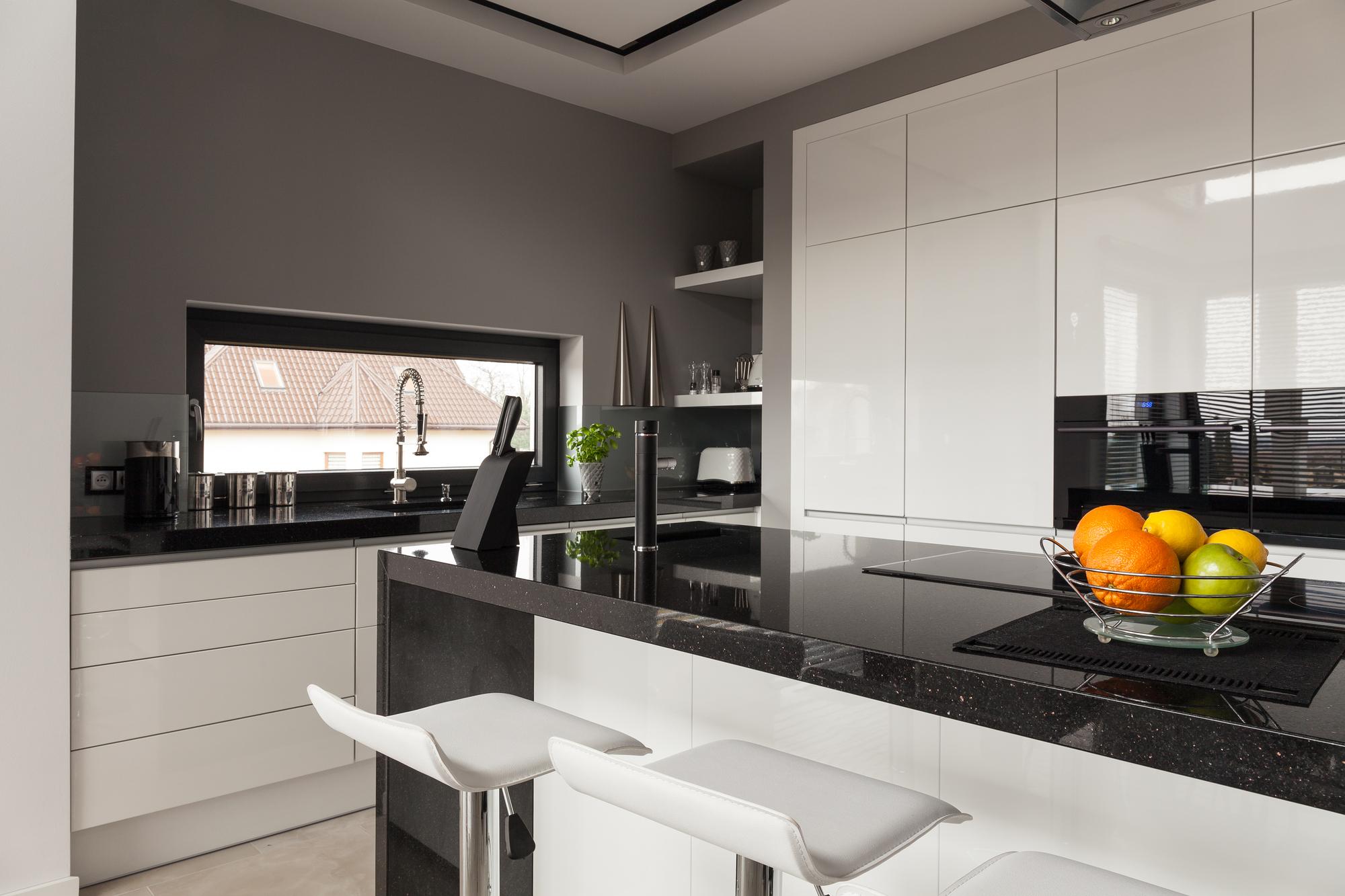 High-end luxury contemporary kitchen
