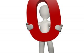 """Cartoon person carrying off a red zero symbolizing the removal of """"position zero"""" from online search results."""
