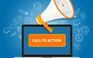 Call-To-Action button amplifying its message to website users.