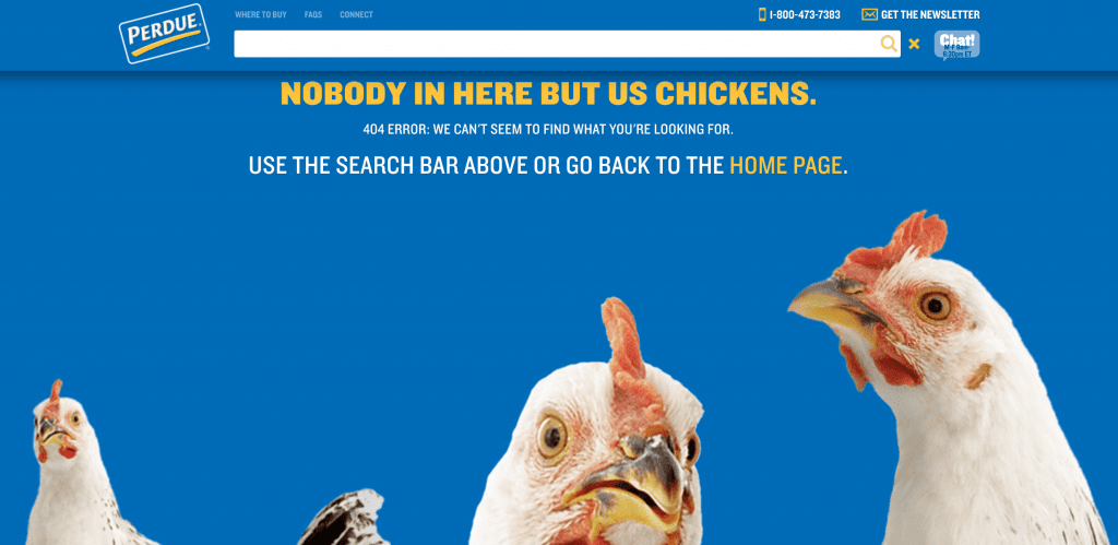 Perdue 404 page