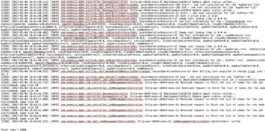 Log file screenshot
