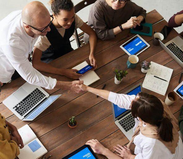 Digital marketing team, focused on delivering stellar service
