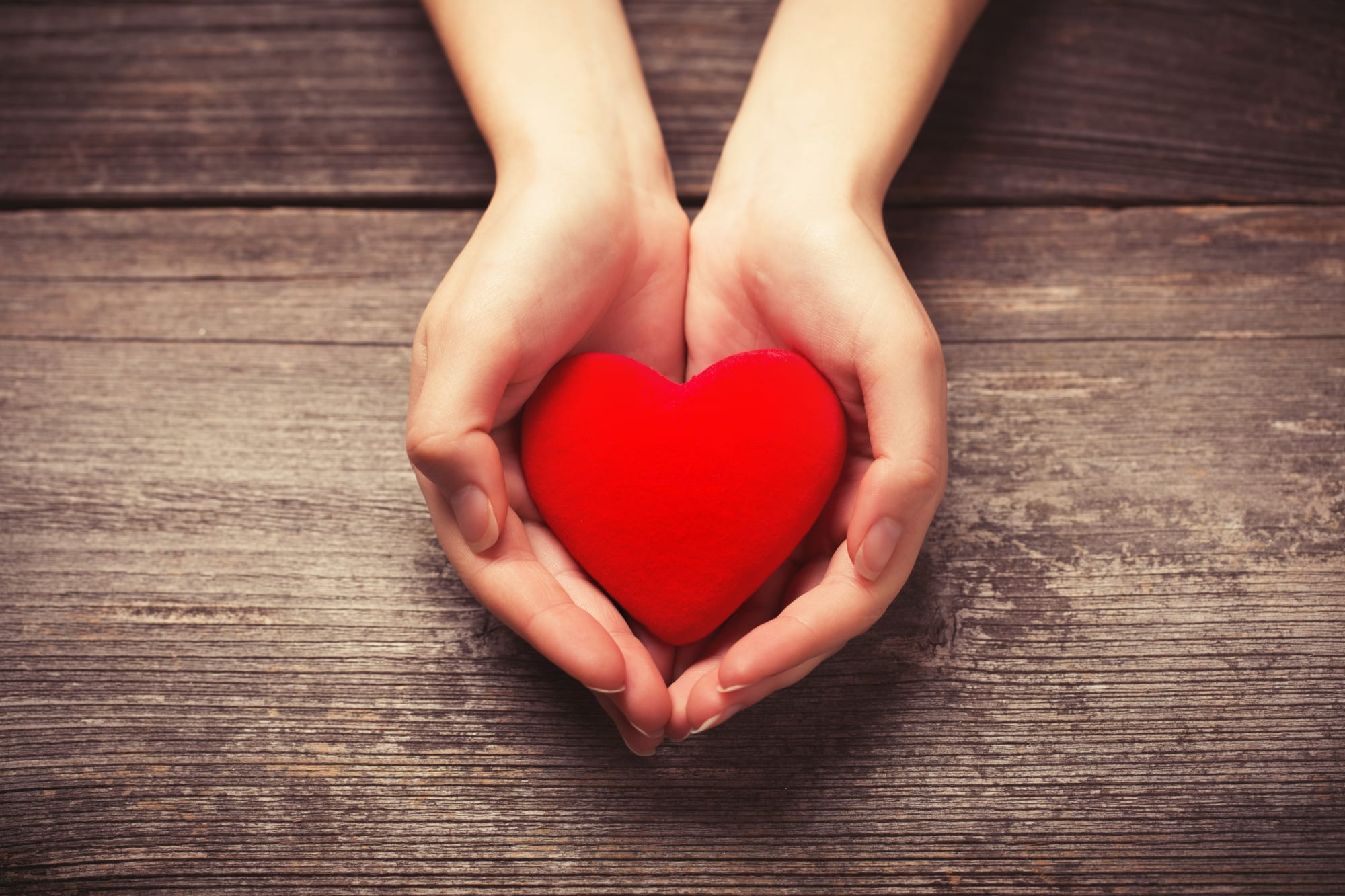 Hands with heart, signifying a nonprofit