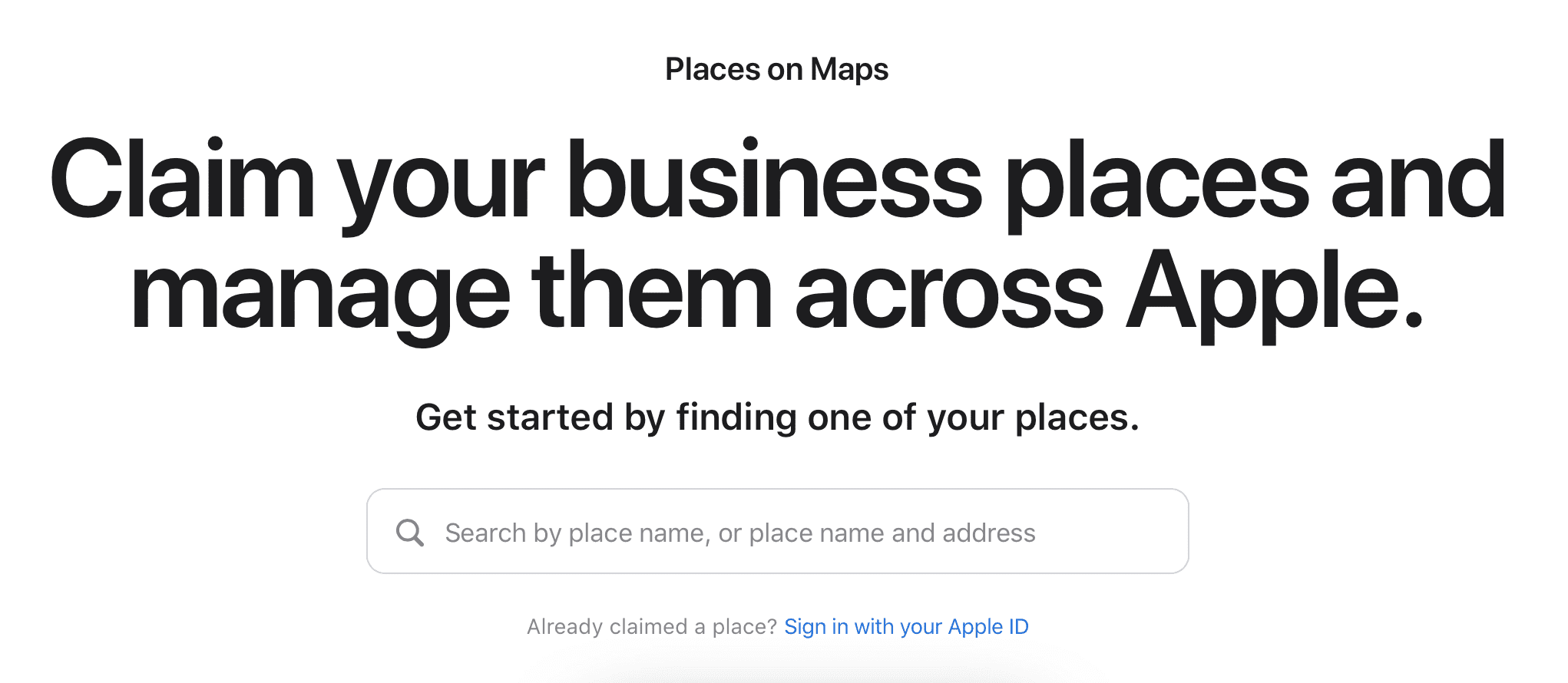 With Apple Places on Maps, you can claim your business places and manage them across Apple.